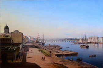Тучков мост в 1844 году