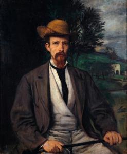 Автопортрет в желтой шляпе