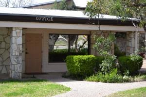 Parish Office front door.