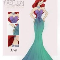 Os vestidos de festa das princesas Disney