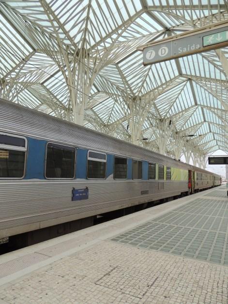 Our return train Lisboa Oriente