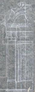 Sketch of half a door