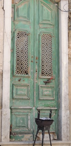Door with fish