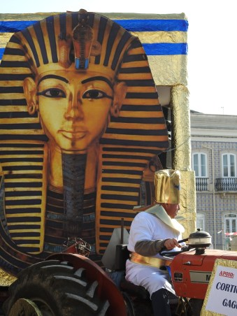 Pharaoh and tractor!