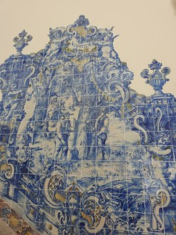 Tiles depicting everyday life inside