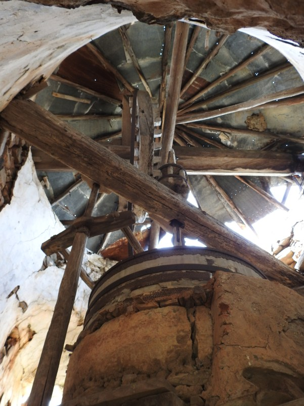 Inside the windmill