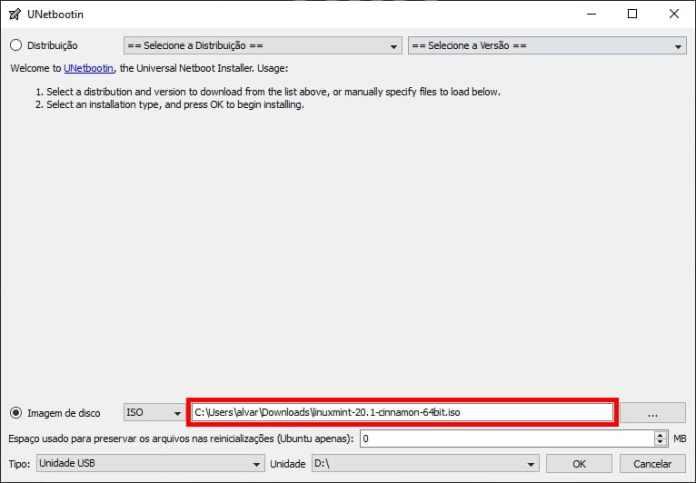 Como instalar o Linux Mint 20.1 no computador - Passo 1