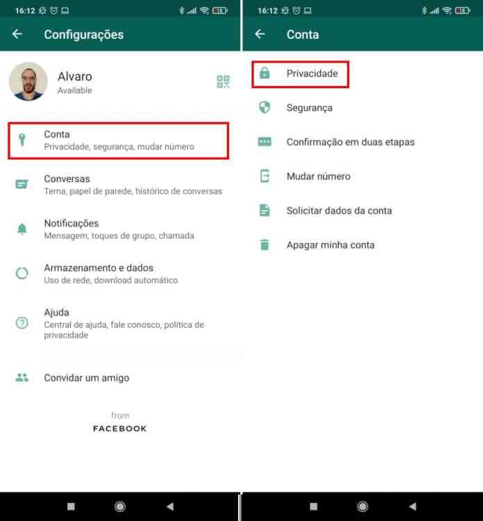 Como ativar a autenticação por biometria no WhatsApp Web - Passo 2