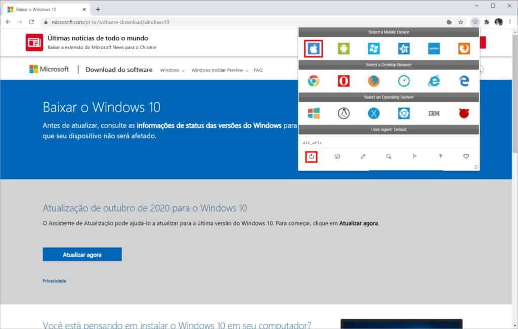 Como baixar a ISO do Windows 10 do site da Microsoft - Passo 5
