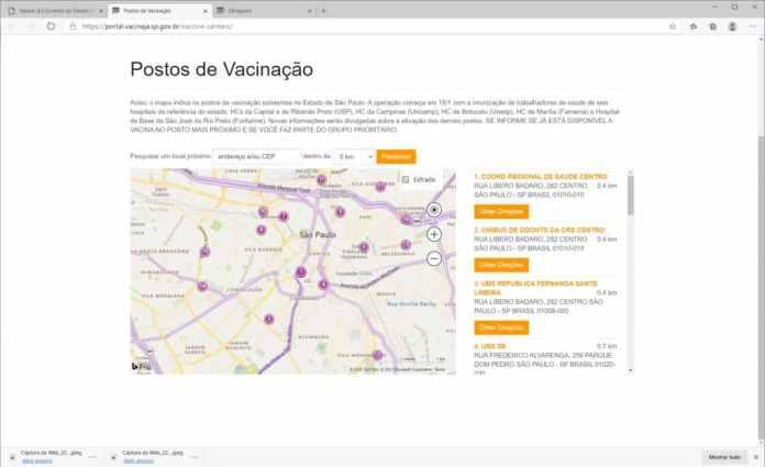Como se cadastrar para a receber a vacina contra Covid-19 em São Paulo - Passo 6