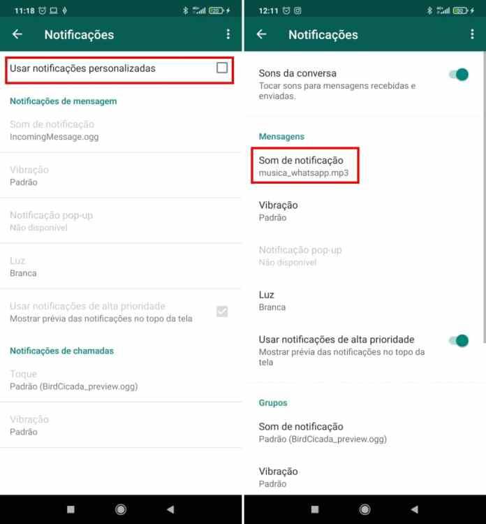 Como colocar uma música para notificações do WhatsApp no Android - Passo 8