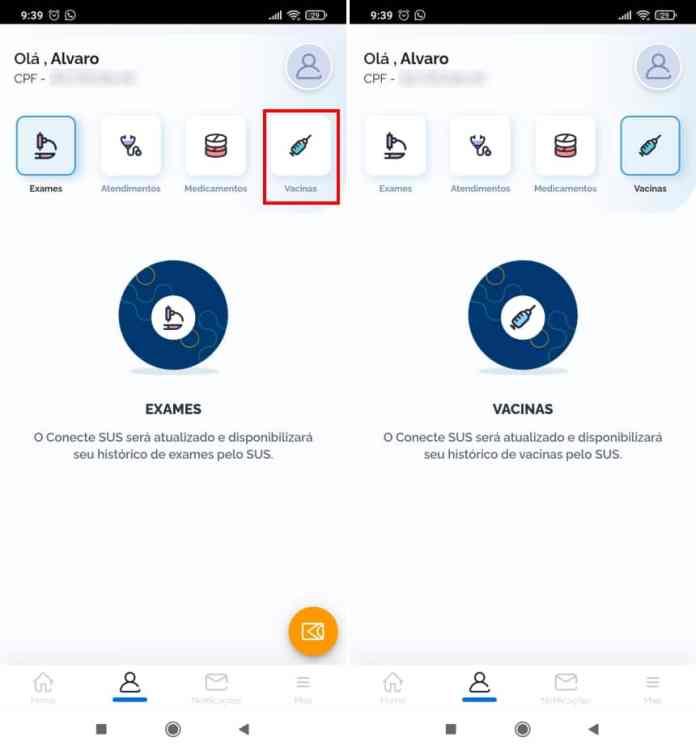Como acessar sua carteira de vacinação digital pelo celular - Passo 3