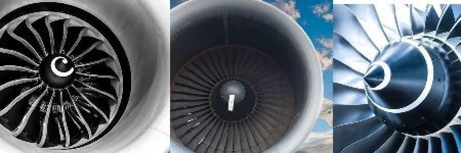 Formas e tamanhos da espiral no motor do avião