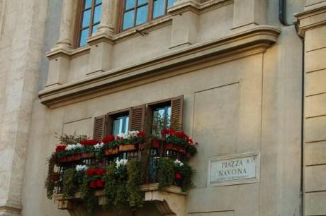 a Piazza Navona balcony