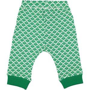 Groen-witte legging van organisch katoen