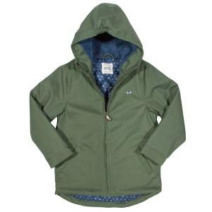 Groene jas van organisch katoen