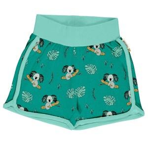 Meyadey groene shorts van biokatoen met koalas