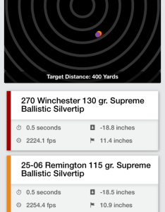 Winchester   ballistic calculator can be accessed for free from laptop and desktop computers or as  phone app the is most useful because you also easy to use super effective ballistics rh