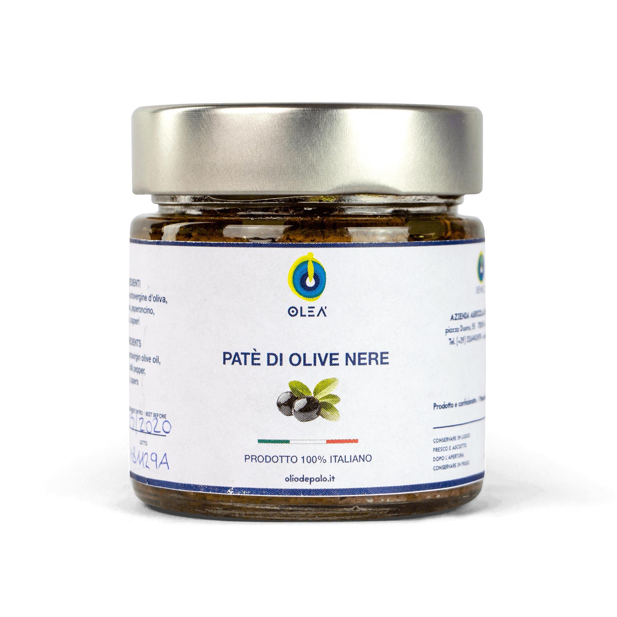 Paté olive nere Olio Depalo prodotti tipici di Puglia