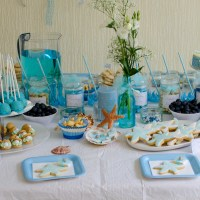 Under The Sea Birthday Party for Szonja -with Ruffled Blue Ombre Cake