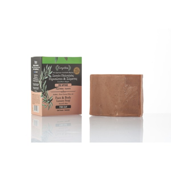 Handgefertigte Olivenölseife Pinke Tonerde