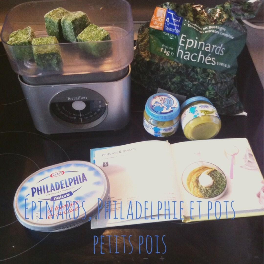 Recette #2 Petits pois &amp&#x3B; Epinards au fromage frais