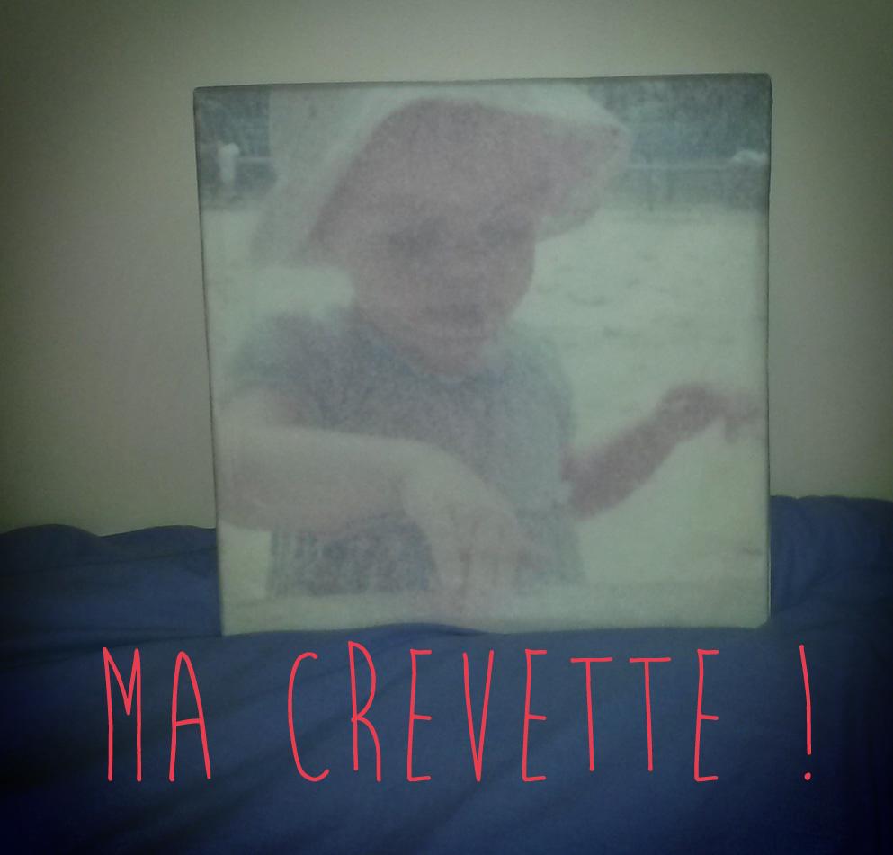 Le beau portrait de Crevette avec Monsieur Canvas