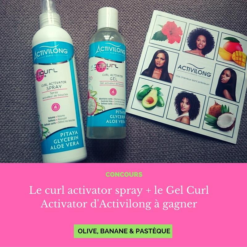 COncours : un lot de produits pour les cheveux bouclés #Activilong à gagner