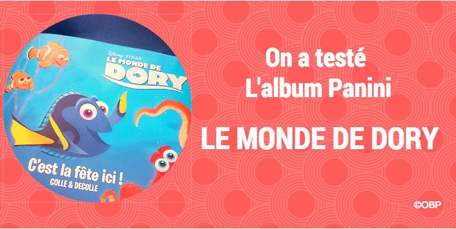 L'album Panini Dory 🐠