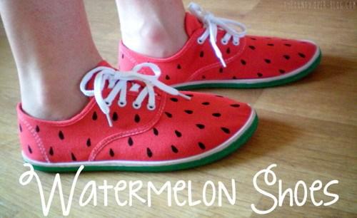 Les chaussures pastèque 🍉