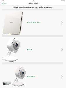 Arlo Q camera surveillance Netgear selection modele