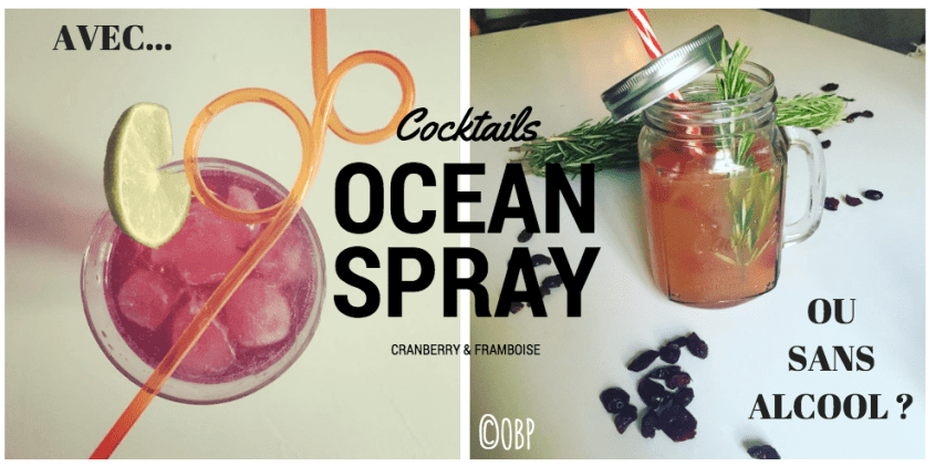 Mes 2 cocktails avec Ocean Spray