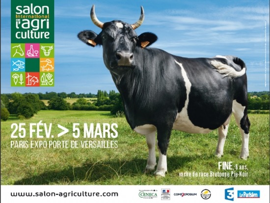 fine vache bio mascotte salon international agriculture 2017