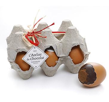 Les oeufs au chocolat en coquille de l'Atelier du chocolat