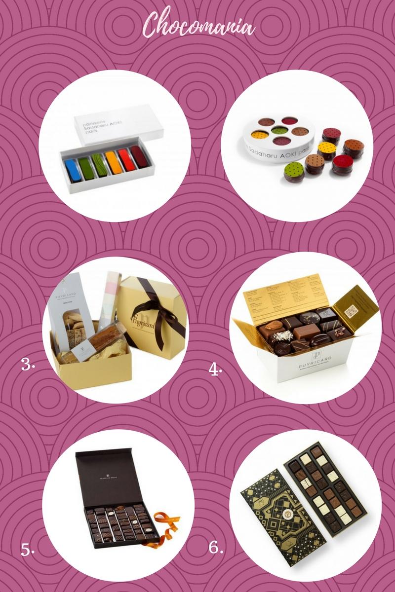 Sémection de chocolats sur chocolaterieonline.com