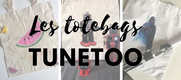 Des Totebags de designer fun et personnalisés avec Tunetoo