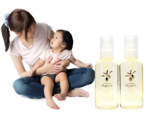 Olive Manon Virgin Oil is suitable for everyone, even on Baby's delicate skin
