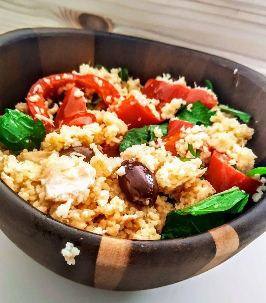 couscous di salmone e olive