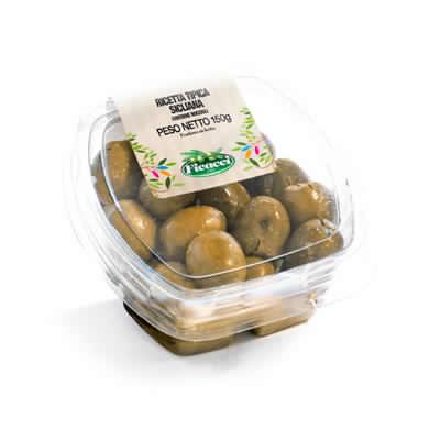 Ricetta tipica regionale siciliana olive nocellara del belice schiacciate 150g