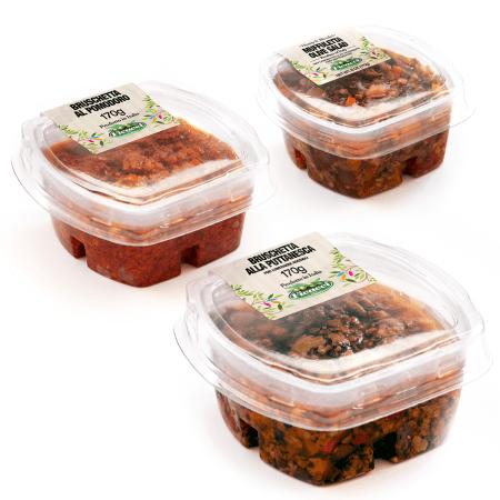bruschette di olive pomodori secchi e giardiniera assortite alla puttanesca insalata di rinforzo