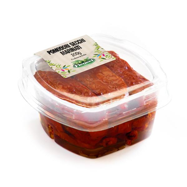 vaschetta da 200g di pomodori secchi aromatizzati all'alloro e semi di finocchio
