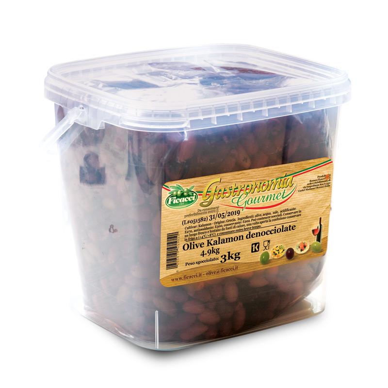 Olive nere kalamon denocciolate