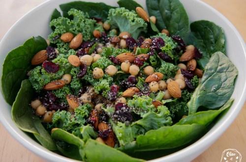 Salade Kale Vegan Sans Gluten