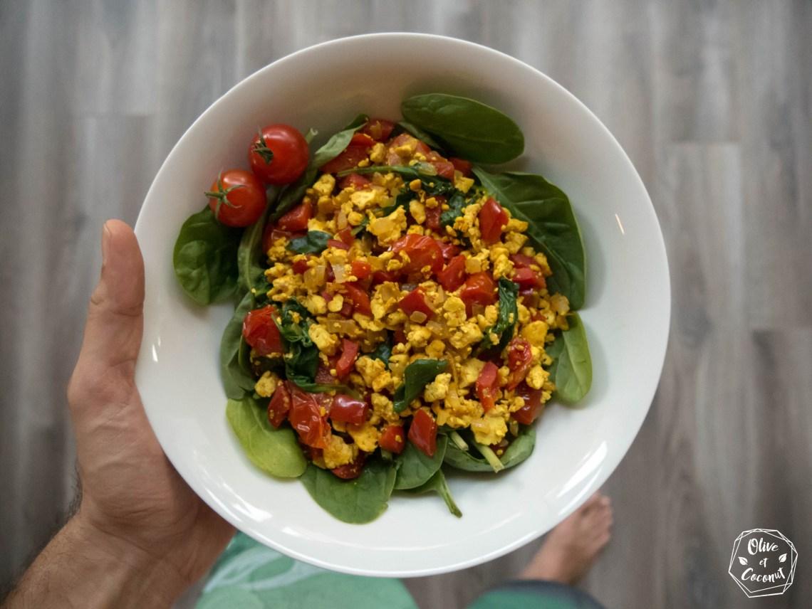 Brouillade Tofu Vegan Sans Gluten