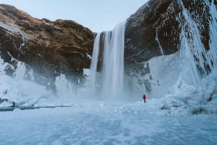 Cascade eau glacée