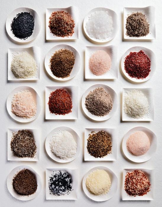 Différents types de sels