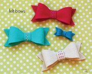 felt bows free pattern and tutorial