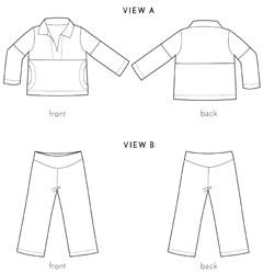 Digital Nature Walk Pullover + Knit Pants Sewing Pattern