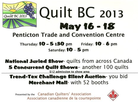 Quilt BC 2013 local poster