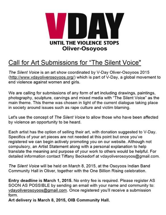V-Day Call for Submissions